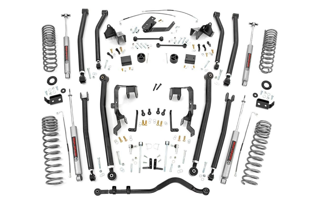 Rough Country 4 Inch Jeep Long Arm Suspension Lift Kit For