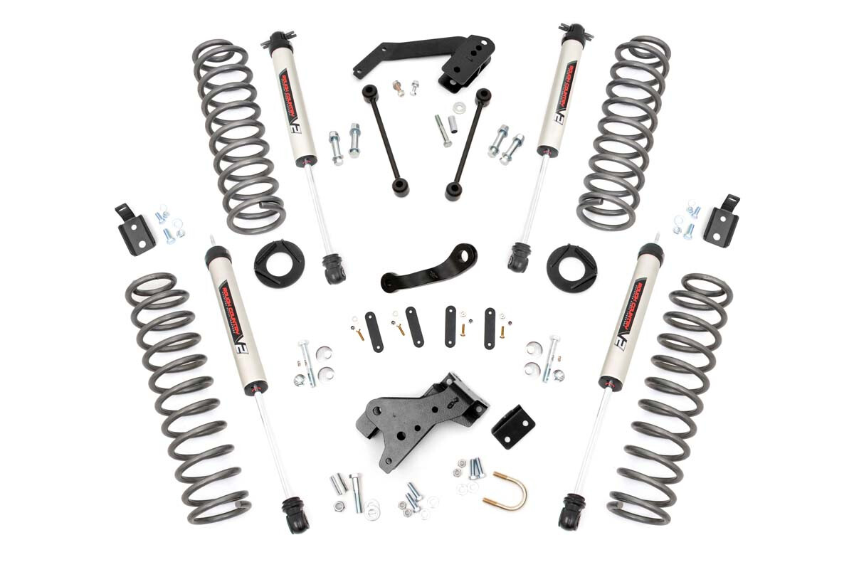 Rough Country 4 Inch Jeep Suspension Lift Kit (V2 Monotube