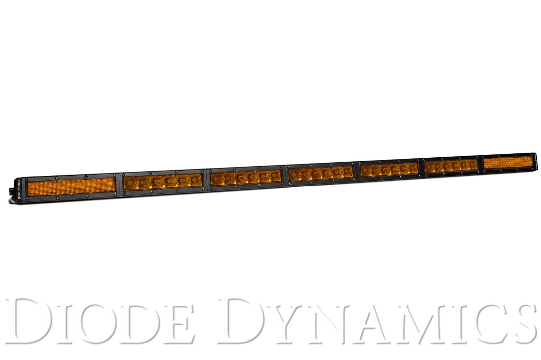 42 Inch Led Light Bar Single Row Straight Amber Combo Each
