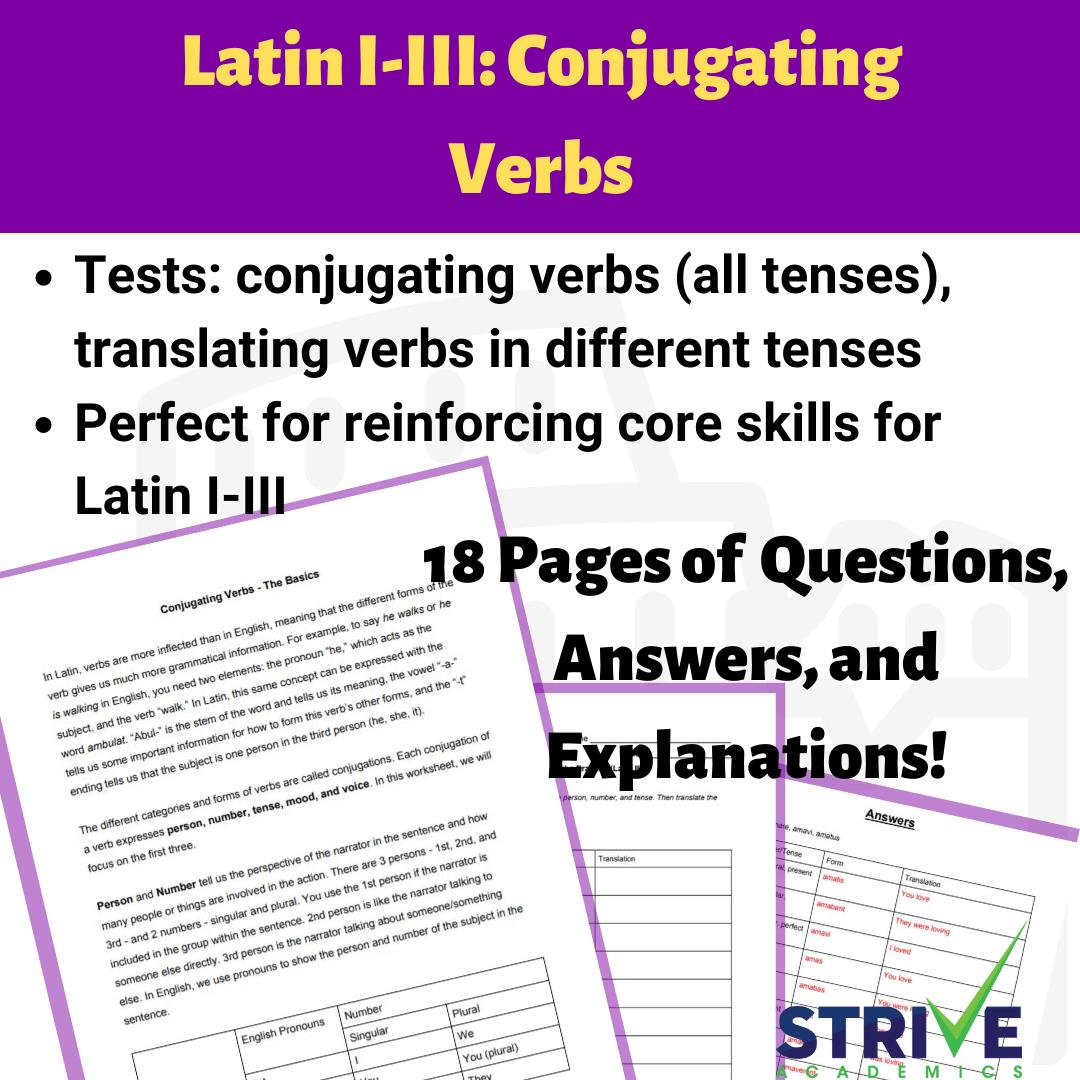 Latin Forming Active Verbs