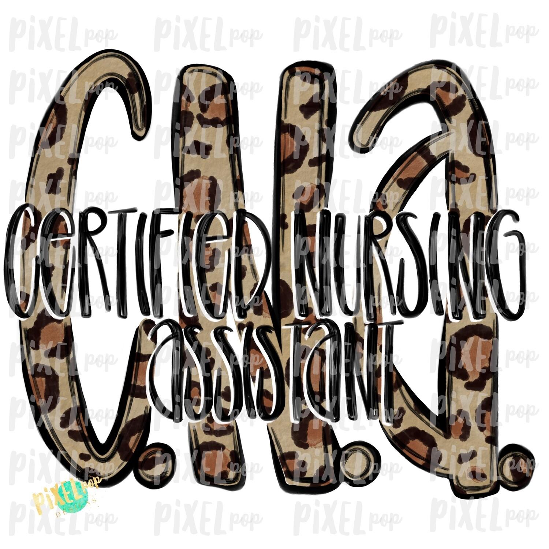 Certified Nursing Assistant Cna Leopard Design