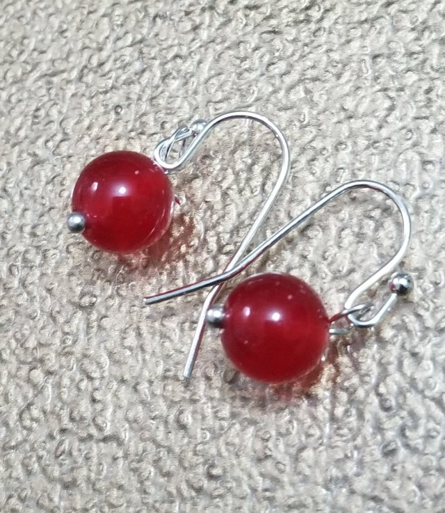 Cherry Quartz Chakra Earrings