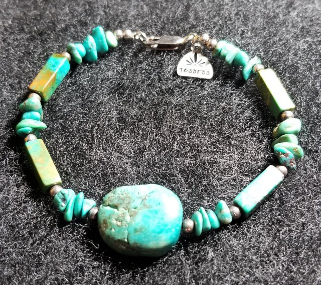 Turquoise  Sterling Silver Bracelet 00198