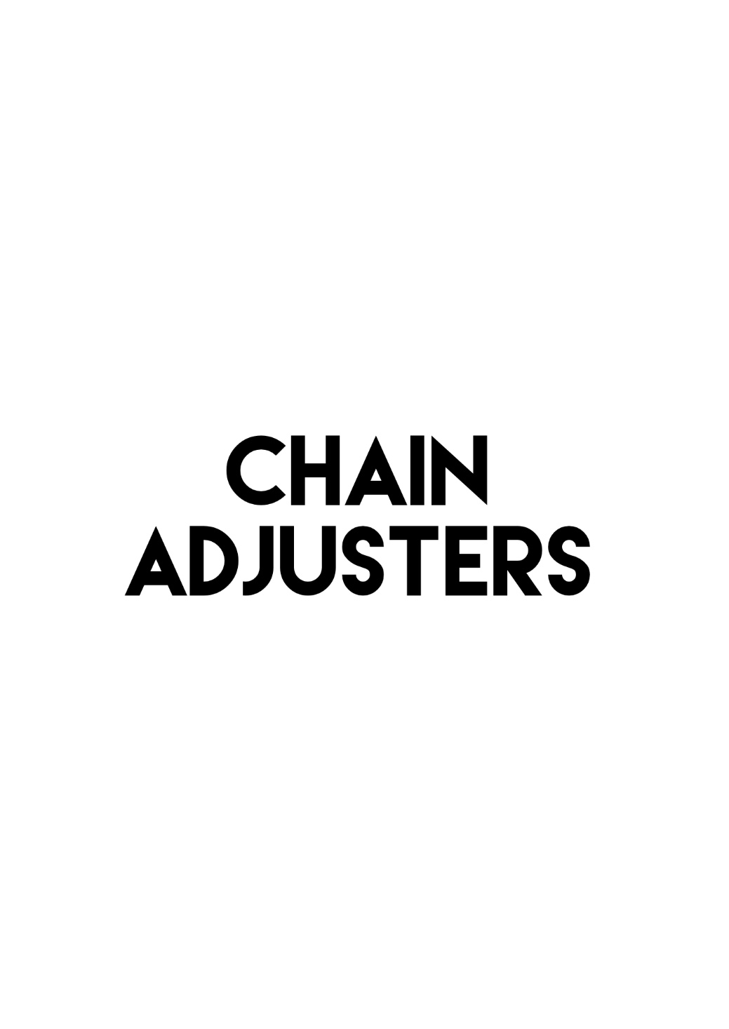 Chain Adjusters/ Snail Cams