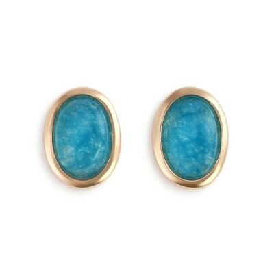 Giving Earrings Gold Aquamarine