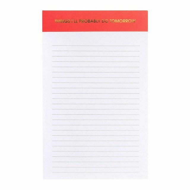 Things I'll Do Tomorrow Notepad