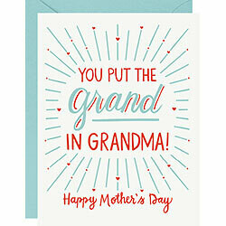 Grand in Grandma Letterpress Card