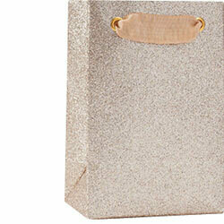 Champagne Glitter Small Gift Bag