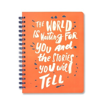 The World Is Waiting Spiral Notebook