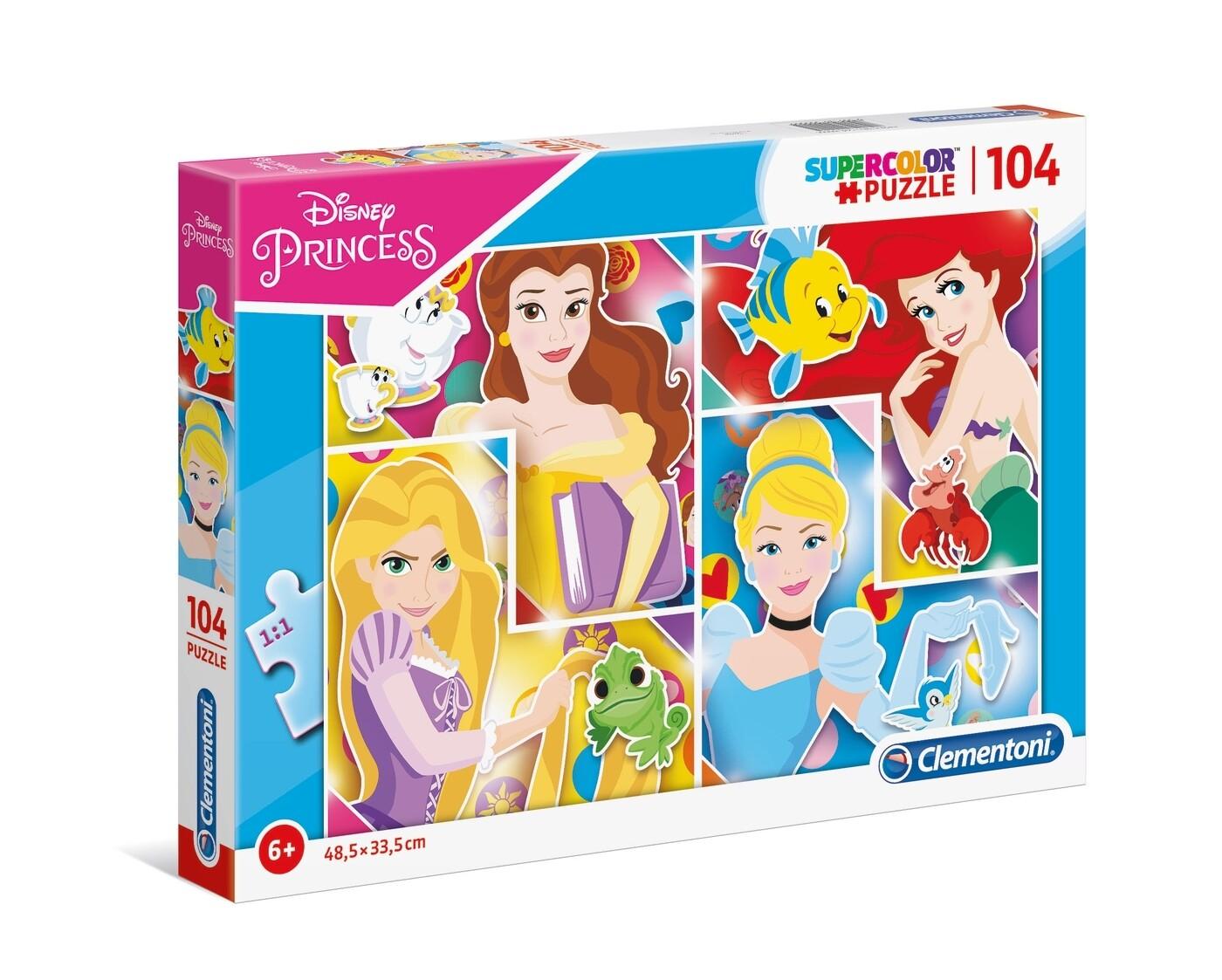 PUZZLE Super 104PCS Princesas Disney -- CLEMENTONI