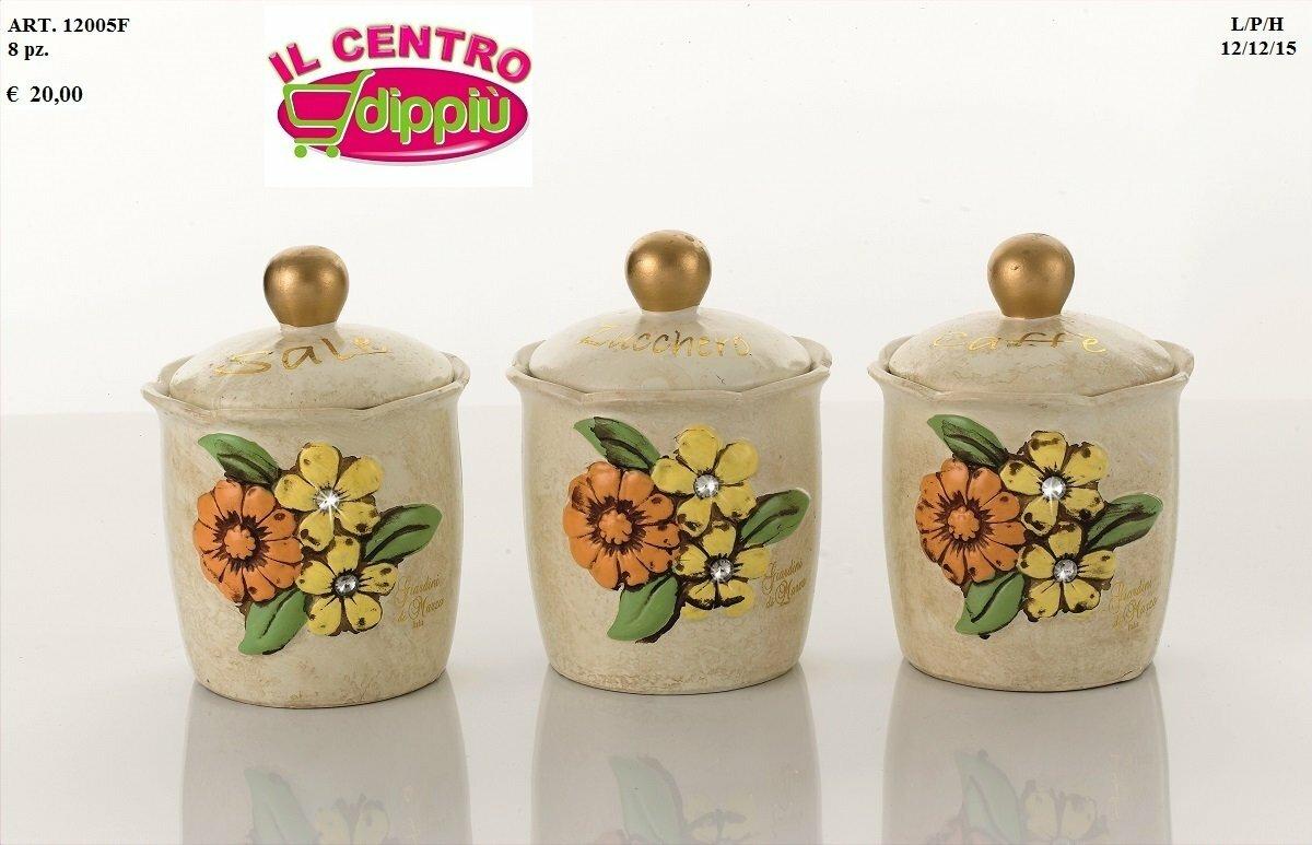 Bellissimo portabicchieri fiorella di giardini di marzo in ceramica. Linea Fiorella