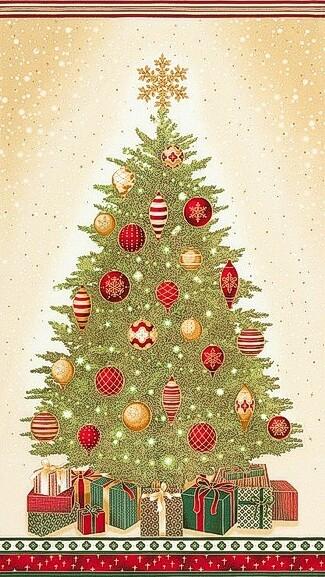 Christmas Tree Panel (SKRM-17324-223)