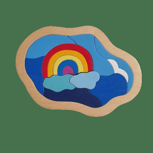 Holzpuzzle Regenbogen Himmel