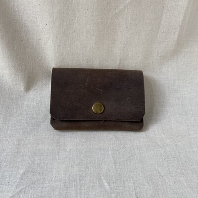 In Blue Montana Snap Card Wallet
