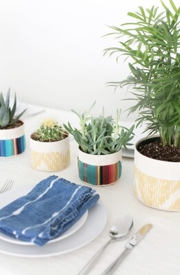 Medium Canvas Sitting Planter
