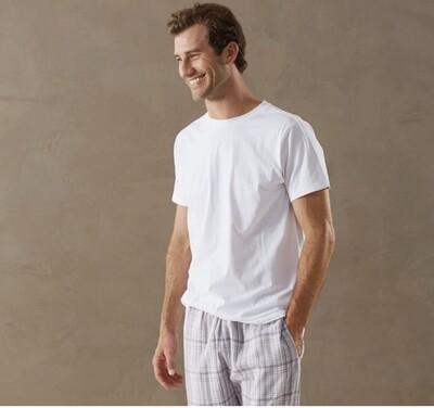 Coyuchi Men's White Short Sleeved Tee