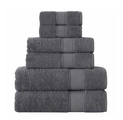 GRUND 6 Piece Organic Cotton Towels- Slate Gray