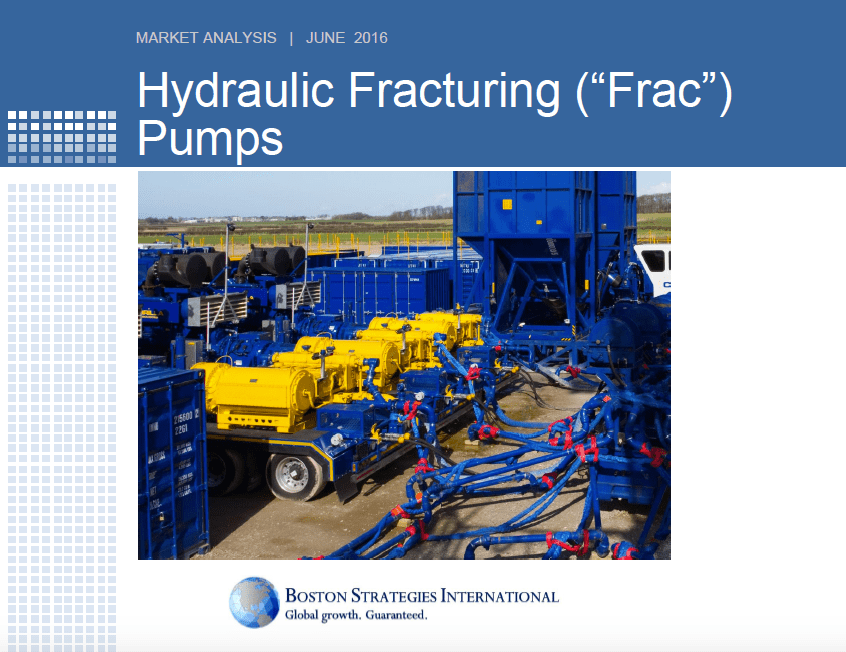 """Hydraulic Fracturing (""""Frac"""") Pumps - Demand Section 10752"""