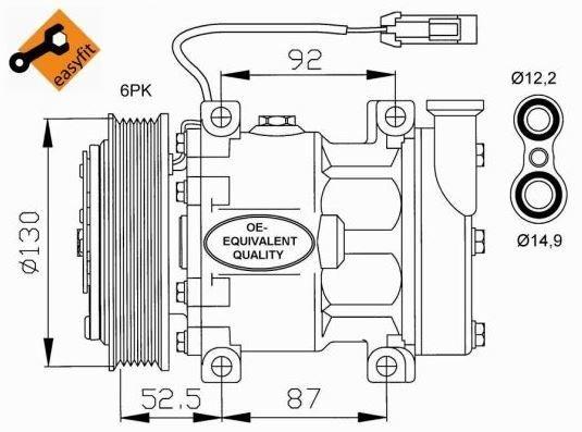 Compressore climatizzatore aria condizionata ALFA ROMEO