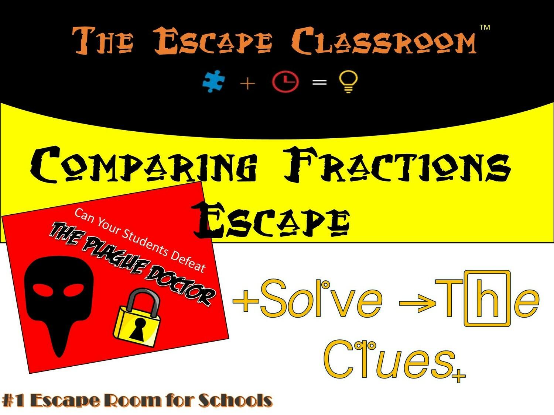 Comparing Fractions Escape School License