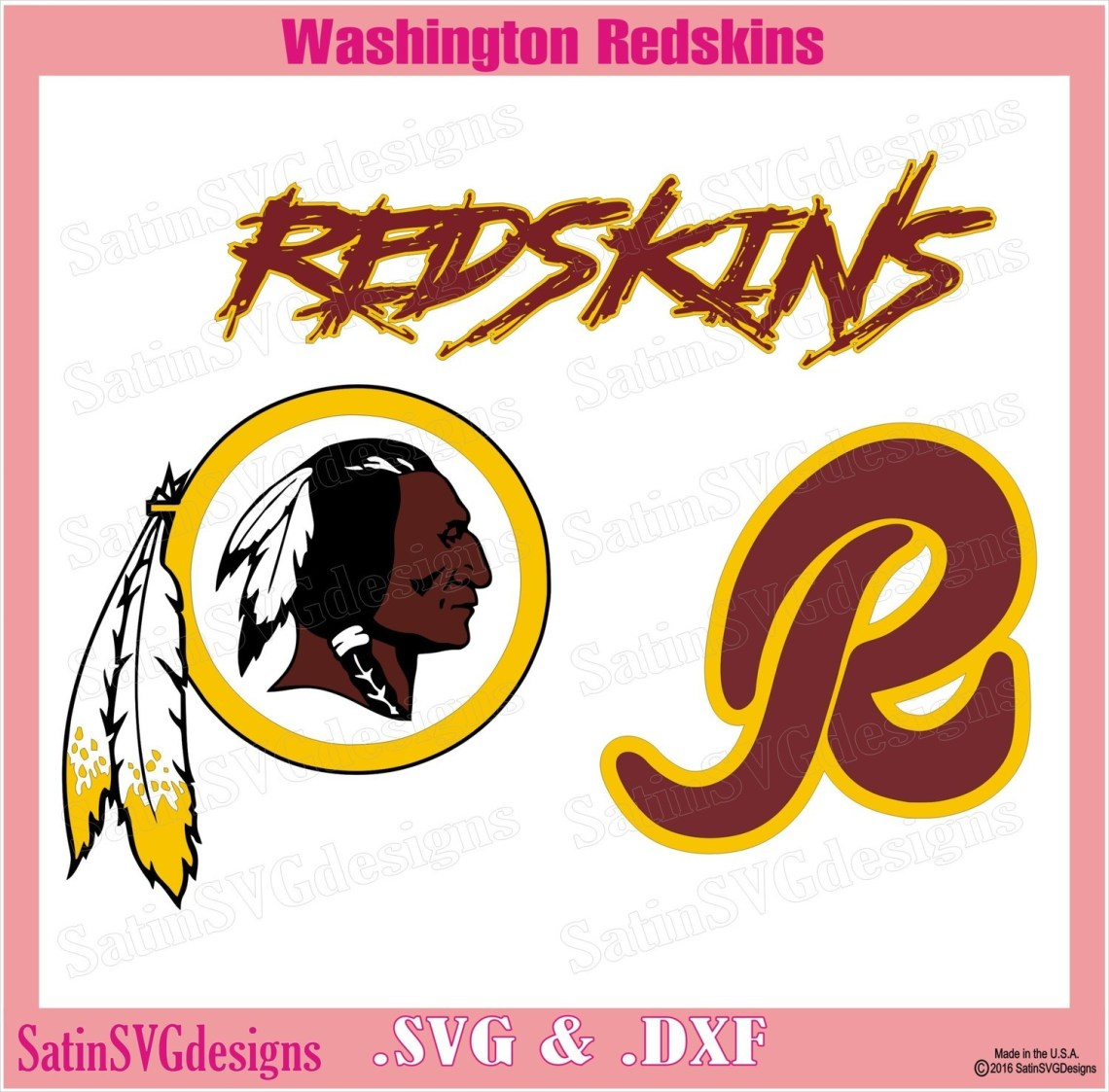 Download Washington Redskins Design Set SVG Files, NFL Football ...