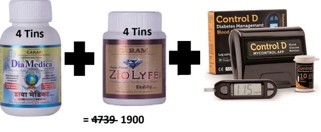 4 tin Diamedica with Control D HSN 30049011