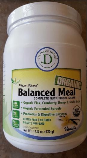 Vanilla Organic Balanced Meal