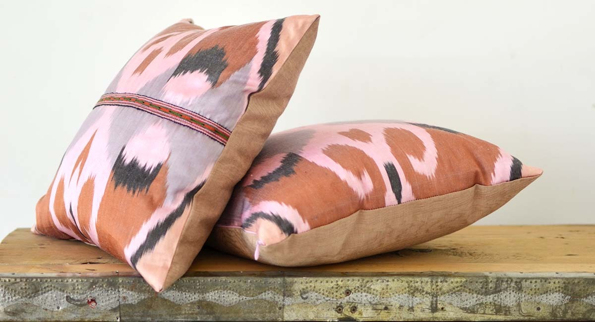 ikat pillow covers uzbek ikat fabrics