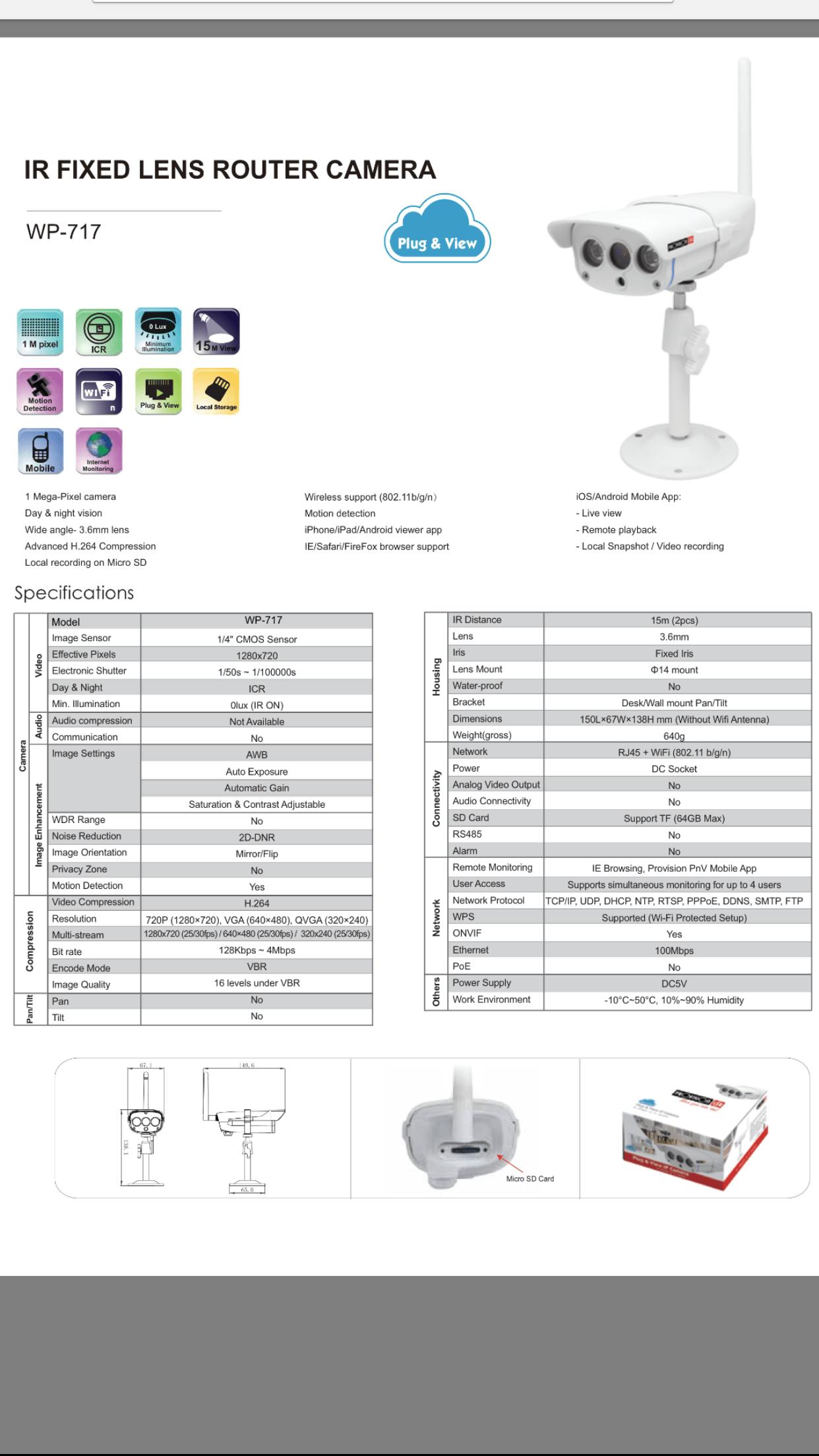 Wifi cameras/ Plug and play cameras/ CCTV Kits/ Baby
