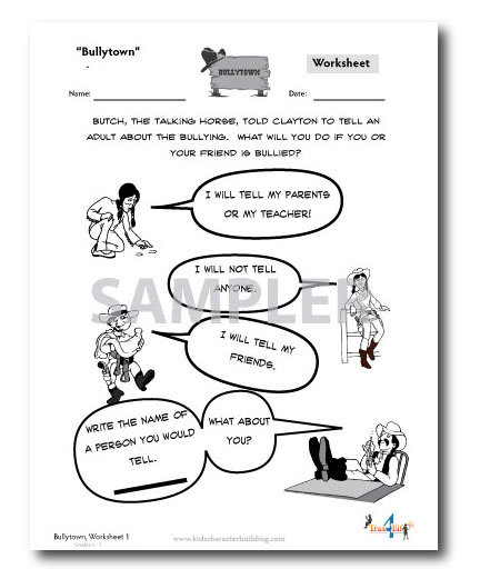 Bullytown- A Lesson Plan, Audio & Worksheets on Reporting