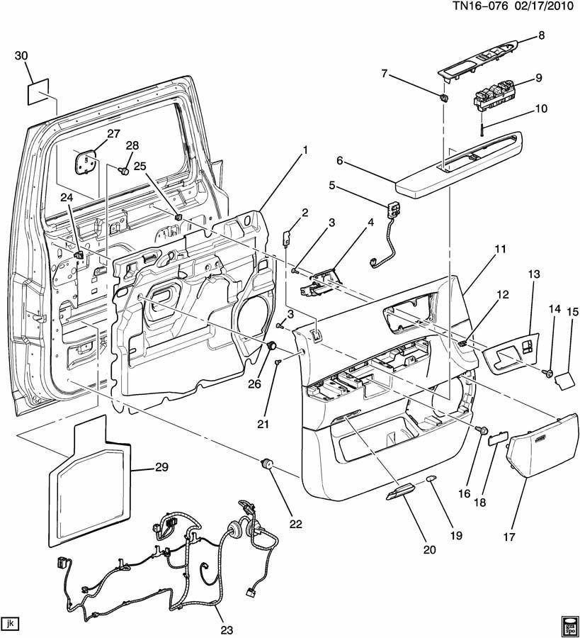 08-09 Hummer H2 Lh Drivers Side Door Panel Seat Heater