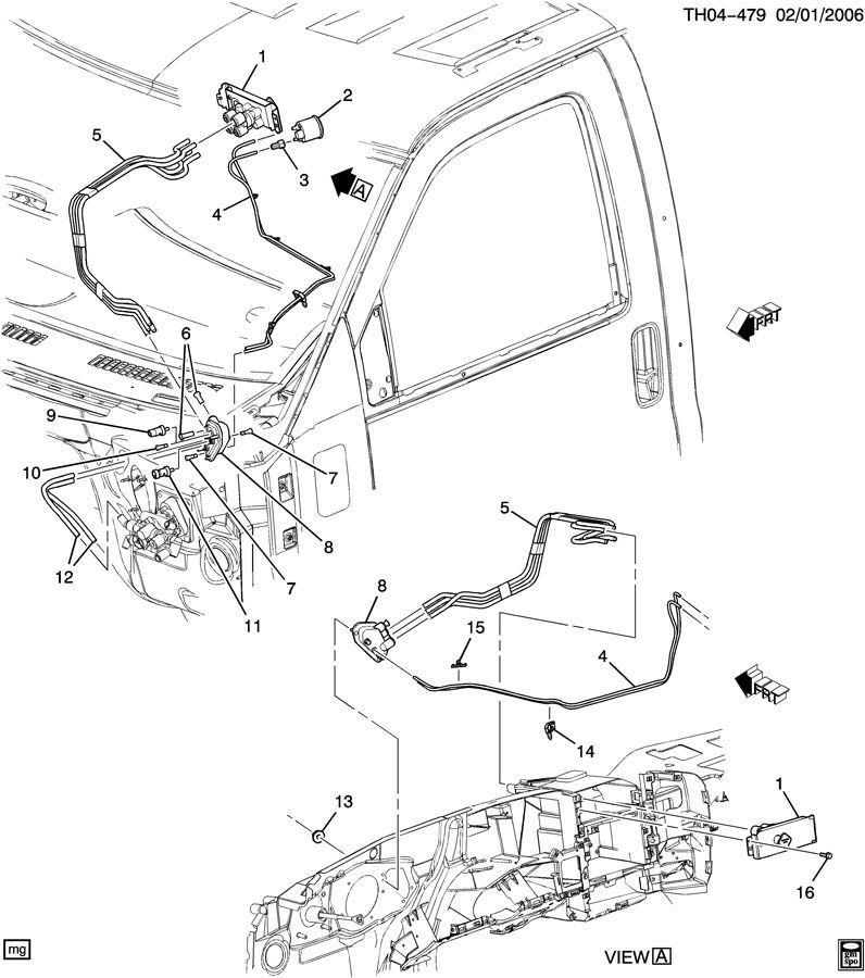 2003-2009 Topkick/Kodiak C7500-C8500 Parking Brake