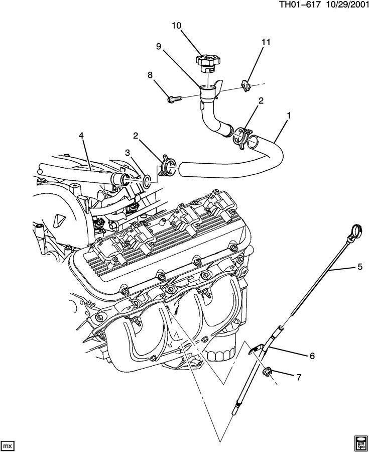 2003-2009 Topkick/Kodiak C4500-C8500 Crankcase Oil Fill