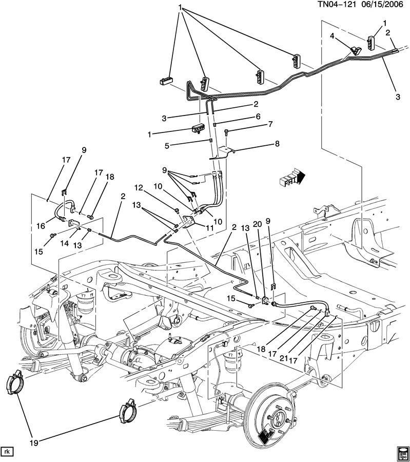 2006-2010 Hummer H3 Hydraulic Brake Hose Line New Rear