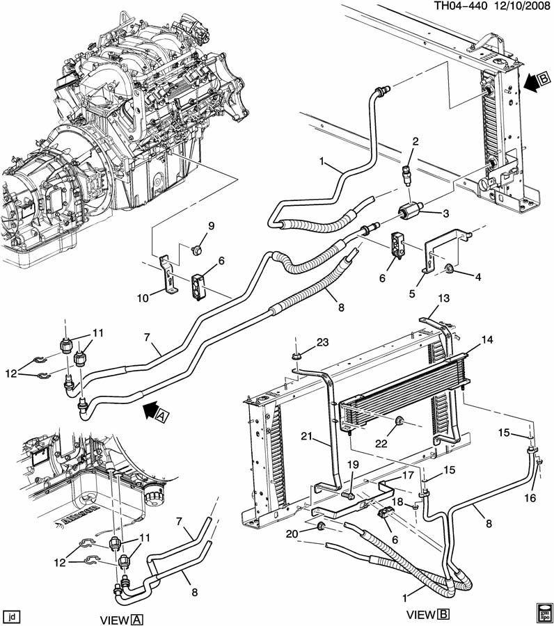 2003-2009 Topkick/Kodiak C4500 Transmission Oil Cooler