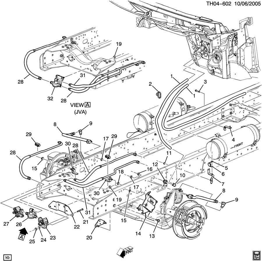 2003-09 C7500 C8500 Complete Front Air Brake Control Valve