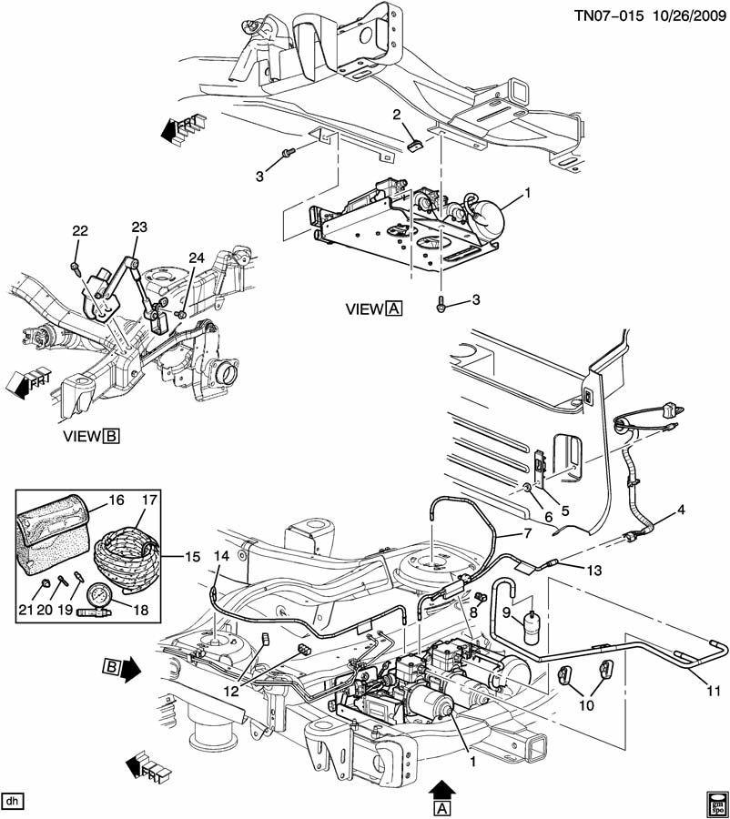 2008-09 Hummer H2 Air Suspension Interior Trim Bezel