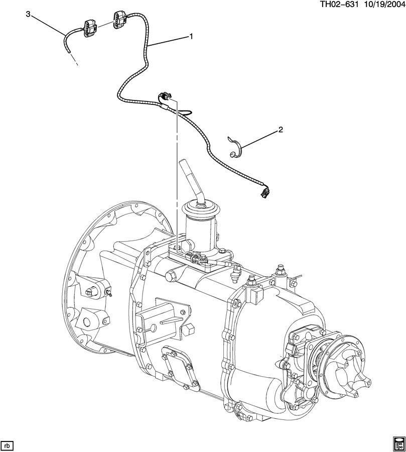2003-09 GMC Topkick/Chevy Kodiak Transmission Wire Harness