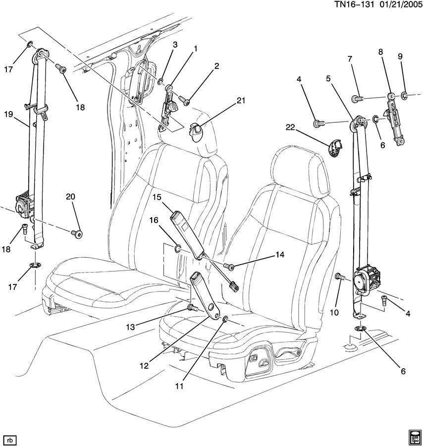 2006-2010 Hummer H3 Passenger/Driver Front Seat Belt Cover