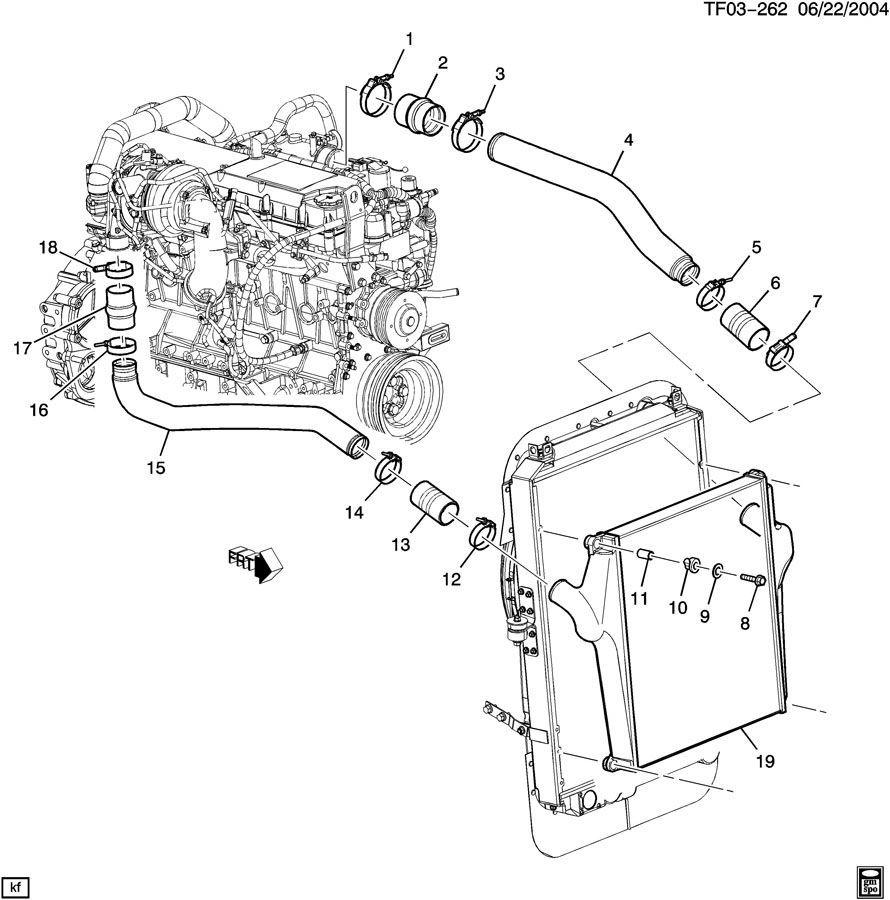 2007-2009 Topkick/Kodiak T6500-T8500 Turbo Outlet Pipe New