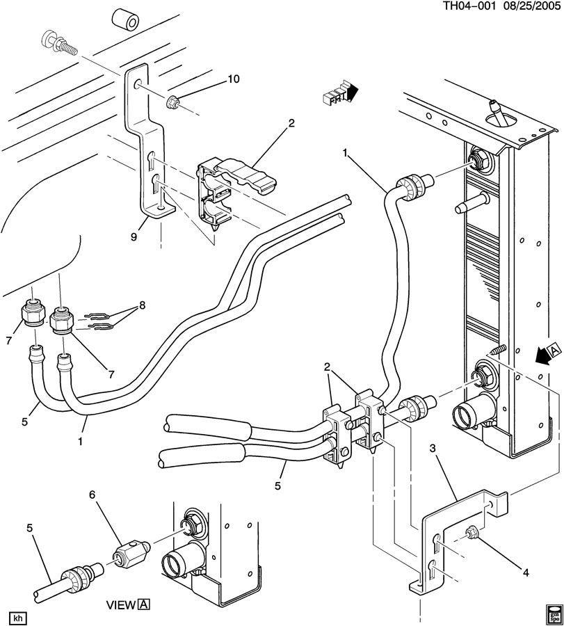 2003-2009 Topkick/Kodiak Transmission Oil Cooler Adapter