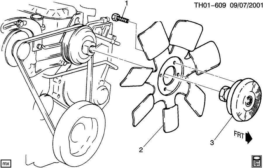 2007-2009 Topkick/Kodiak C6500-C8500 Radiator Cooling Fan