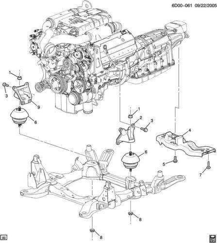 cadillac engine bracket diagram cadillac