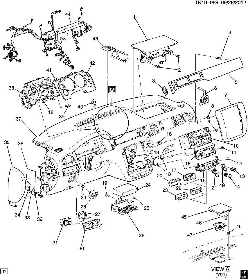 2007-13 Silverado Escalade 4 Button Assy Traction Park
