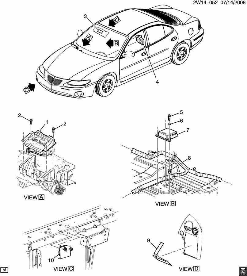 2006-2008 Pontiac Grand Prix Front Airbag Air Bag Sensor