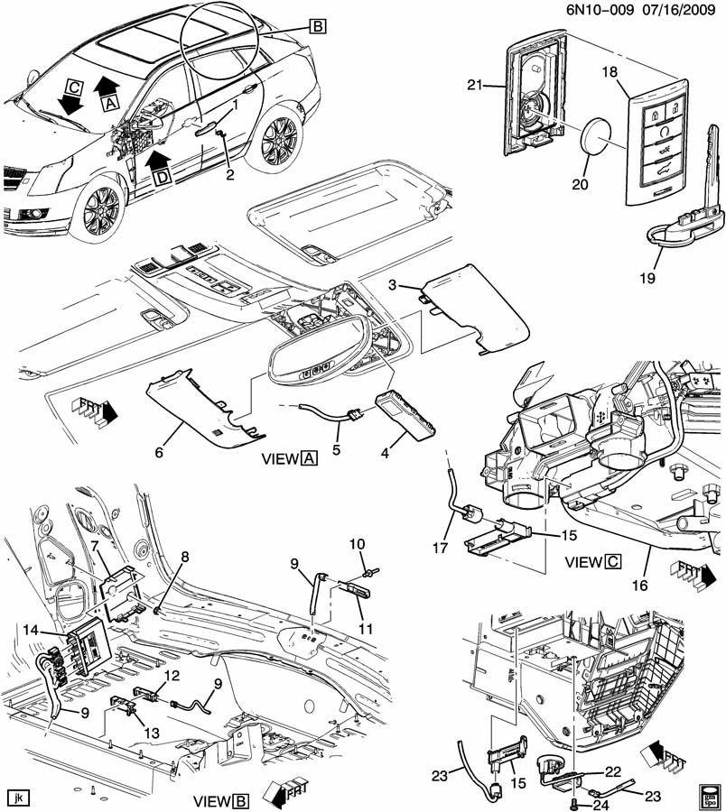 2010-2014 Cadillac SRX Key Fob Transmitter Remote New
