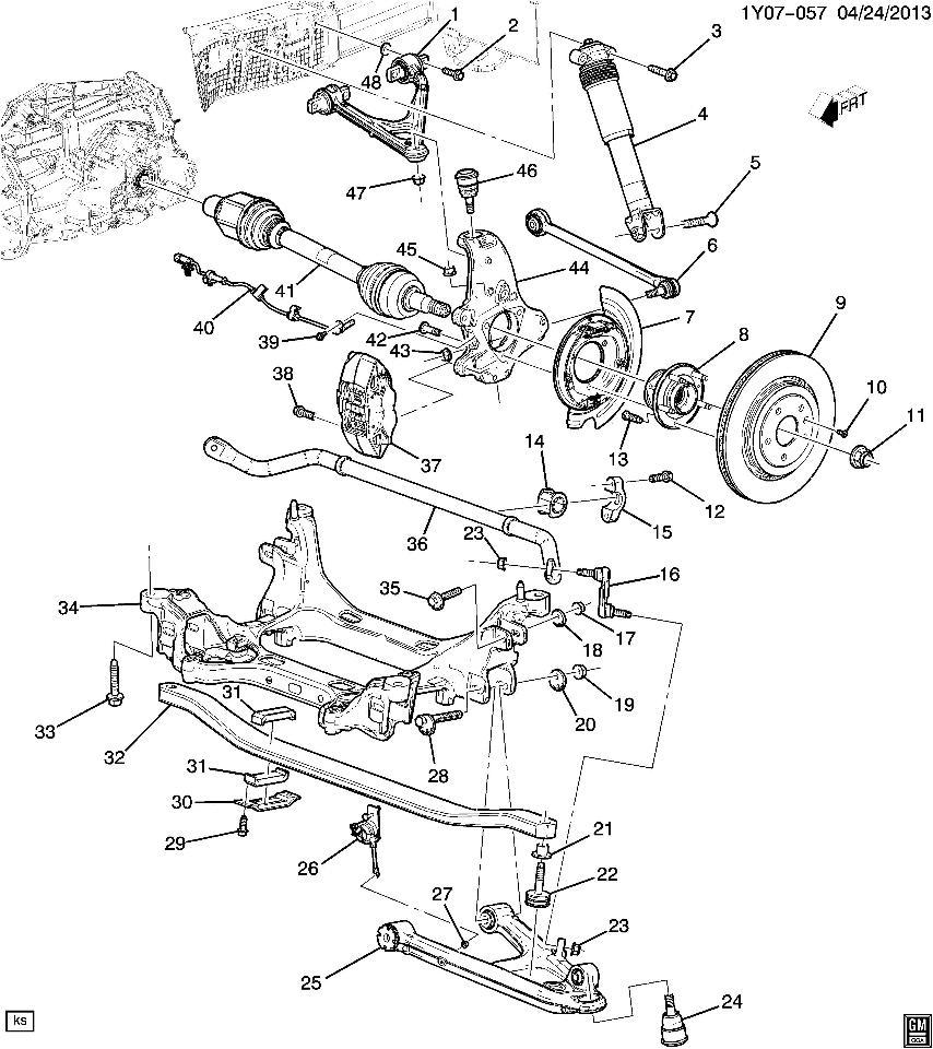 2014-2016 Chevy Corvette C7 Right Rear Sensor Suspension