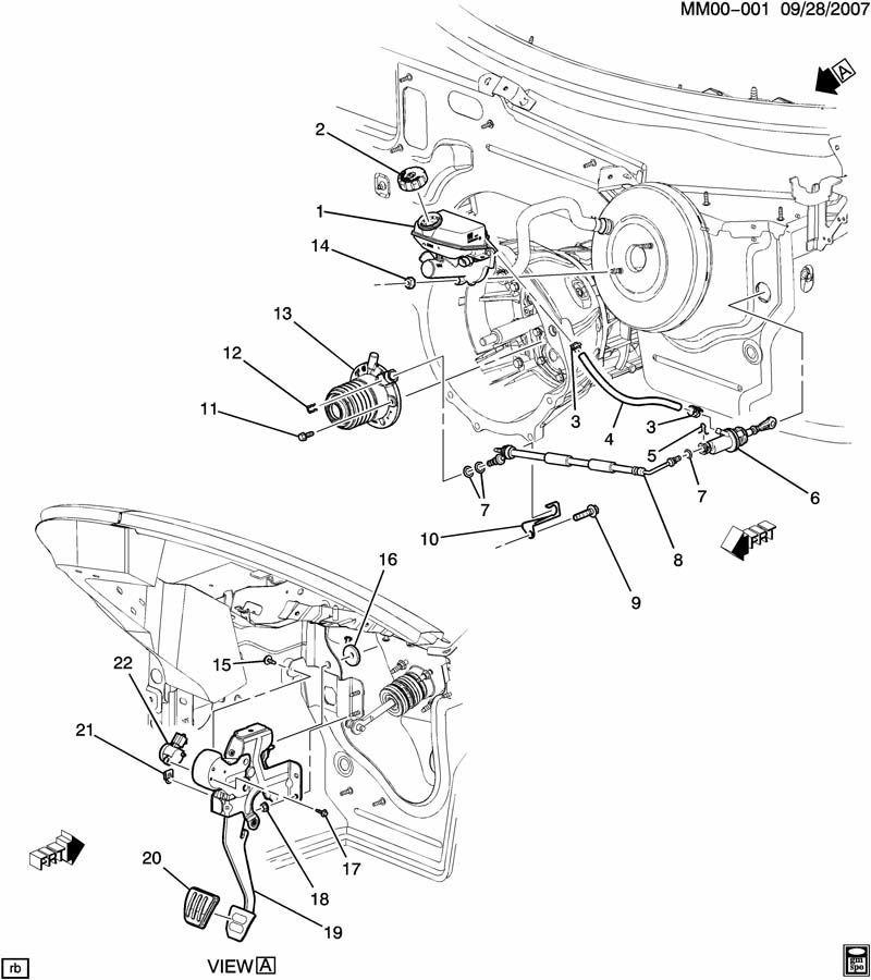 2007-2010 Saturn Sky Pontiac Solstice Slave Cylinder Turbo
