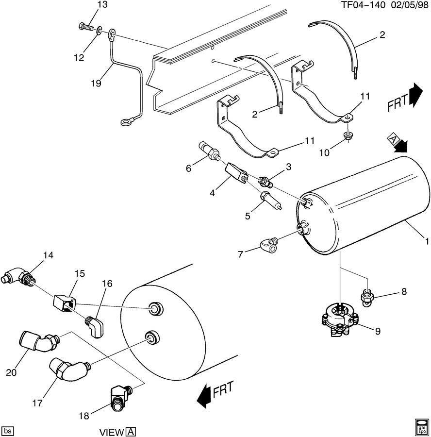 90-09 Topkick/Kodiak T/C6500-T/C8500 Low Brake Pressure