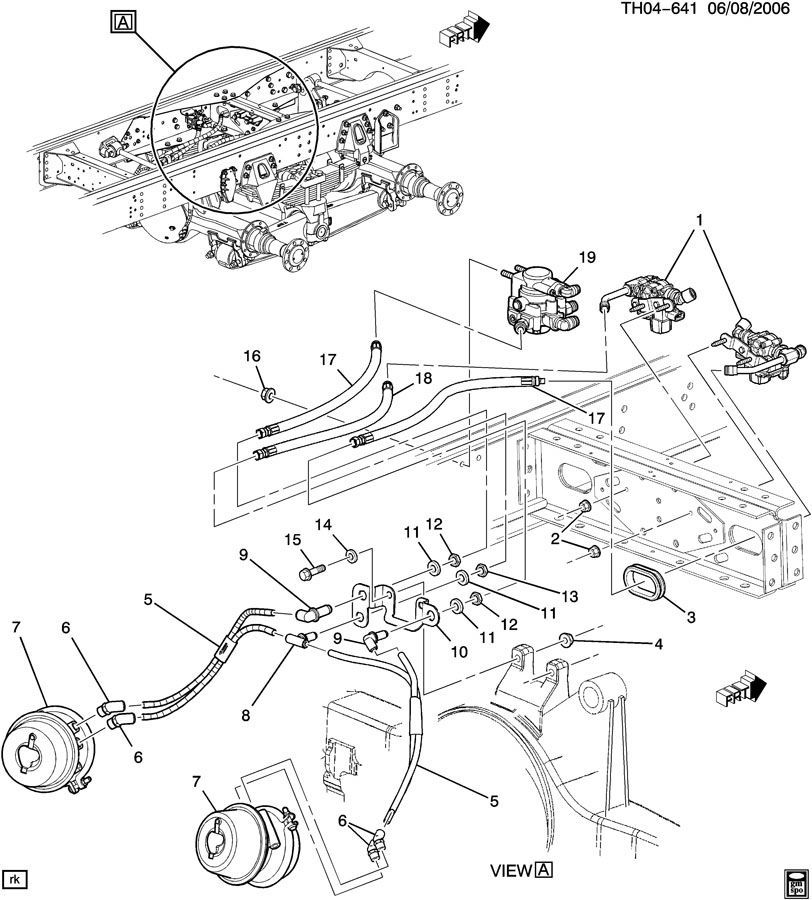 2006-2009 Topkick/Kodiak 8500 Parking Air Brake Valve